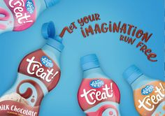 Squeeze Some Fun Out Of Life on Packaging of the World - Creative Package Design Gallery Chocolate Topping, Creative Package, Packaging Design Inspiration, Package Design, Milkshake, Spray Bottle, Some Fun, Branding, Treats