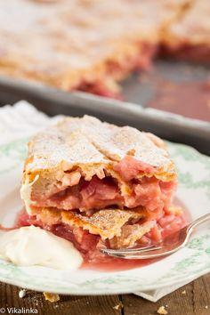 Rhubarb Slab Pie