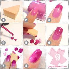 gingerbreadmanne ♥: Sponge nail art: Mini tutorial for gradient nails