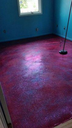 Black Sparkly Bathroom Flooring Glitter Effect Vinyl