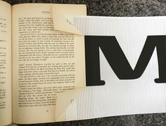 Learn how to fold a book into a word with this surprisingly easy craft tutorial. Diy Letter Books, Book Letters, Book Folding Patterns Free Templates, Photomontage, Old Book Crafts, Book Sculpture, Paper Sculptures, Book Page Wreath, Handmade Gifts For Friends
