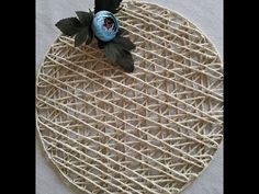 Cd Crafts, Diy And Crafts, Arts And Crafts, Paper Decorations, Handmade Decorations, Jute, Newspaper Basket, Fabric Boxes, Hand Embroidery Patterns