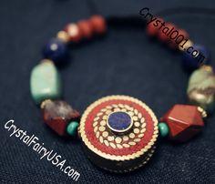 Lapis jasper boho bracelet turquoise gemstone bracelet genuine stone bracelet healing bracelet mala bracelet chakra bracelet nepal bracelet