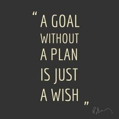 "Twitter / WeAreTeachers: ""A goal without a plan is just ..."