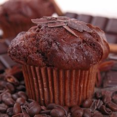 A delicous mocha muffin recipe.. Dark Chocolate Mocha Muffins Recipe from Grandmothers Kitchen.