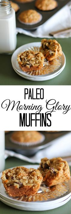 Paleo Morning Glory Muffins - grain-free, refined sugar-free, dairy-free, delicious | TheRoastedRoot.net #paleo #glutenfree #healthy #recipe