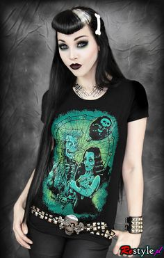 Restyle Vampire Alter Tank Punk Tattoo Emo Gothic Witch Black Tee T Shirt Top