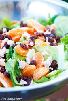 Clean Eating Mandarin Orange Chicken Salad With Dried Cranberries