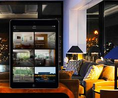 The Savant App doesn't just offer automated home scenes, but room by room control with personalized home pics.
