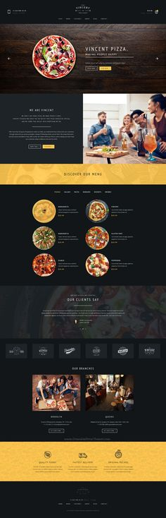 vincet is beautifully design premium #Photoshop template for #webdev pizzeria, restaurant, #cafe or #food order online service websites with 6 homepage layouts and 25 organized PSD pages download now➩ https://themeforest.net/item/vincent-restaurant-pizza-cafe-and-online-delivering/19220268?ref=Datasata