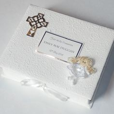 First Holy Communion keepsake box - handmade and personalised with child's name and date of First Holy Communion - £19.50