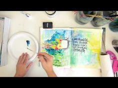Artist Gang - Nika Rouss - Textured Flowers Art Journal - YouTube