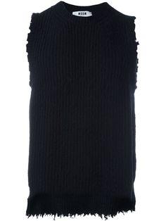 MSGM sleeveless jumper. #msgm #cloth #jumper