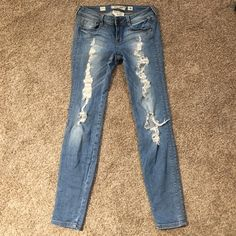 Jeans Distressed jeans skinny fit Foreign Exchange Jeans Straight Leg