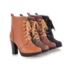 chunky bottes talon bottes de mode de la cheville des femmes (plus de couleurs) – EUR € 24.74