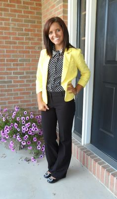 This would be great for my interview at Ocoee where the school colors are yellow and black.