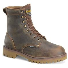 "Men's Carolina® 8"" Steel Toe Waterproof Insulated Work Boots, Old Town Folklore"