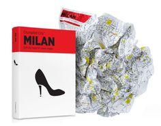 Mapa de Milán que puedes arrugar, doblar, aplastar, mojar... ¡Es ligerísimo e indestructible! #mapa #milan #milano