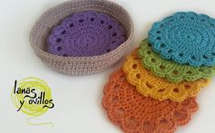 crochet coasters free pattenr with video tutorial