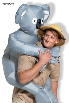 If you're taking a step into the Outback this Halloween, this koala's got your back. Included is the inflatable koala suit, with arms and legs that wrap around the wearer's neck and hips. Simply turn on the attached fan and watch as it comes to life. Piggyback Costume, Adult Costumes, Halloween Costumes, Wrap Around, Arms, Things To Come, Fan, Suits, Watch