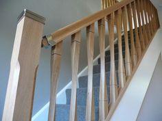 Oak / Ash / Hemlock / Pine / Contemporary Raymond Twist Stair Spindles 41mm…