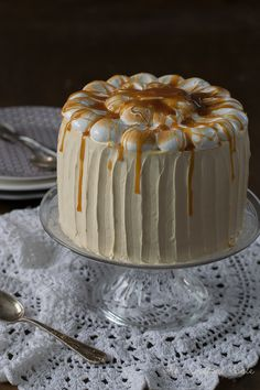 The Sweetest Taste: Tarta de calabaza y caramelo Love Cake, Food And Drink, Pumpkin, Sweets, Cooking, Coco, Fondant, Desserts, Beverages