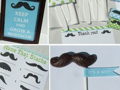 Boy Baby Shower Decorations Mustache Little Man Vintage Printable pdf Package. $20.00, via Etsy.