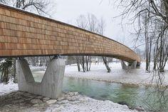 Bicycle Bridge Across the Sava River,© Miran Kambič