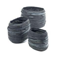 Serax/Set 3 vasi Rubber Ovale/Complementi Vasi