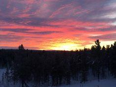 Auringon nousu(yritys) 13.12.2016 Enontekiöllä.