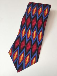 Tequila Cocktail Collection Vibrant Bright Multi Color Tie 100% Silk  #CocktailCollection #Tie