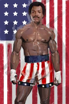 Apollo Creed - Carl Wheaters/ Rocky IV digital painting ready for Film london comic c Rocky Ii, Rocky Balboa, Black Characters, Iconic Characters, Sylvester Stallone, Batwoman, Character Concept, Character Design, Concept Art