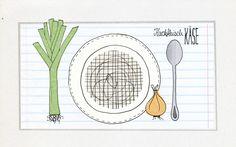 Agenturküche: Wir löffeln gerne Suppe. #illustration #rezept #food #suppe