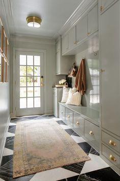 Ok Design, House Design, Vestibule, Tudor Style Homes, Brown Interior, Up House, Marble Floor, Design Firms, Built Ins