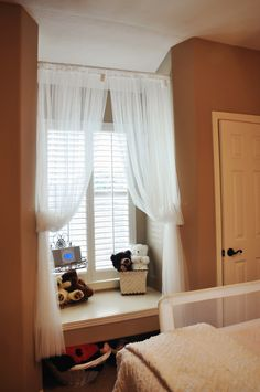 Window Seat Curtains window seat with curtains | reading nook | pinterest | window