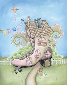There was an old woman who lived in a shoe...