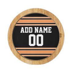 Black and Orange colors -- If you are a Fantasy Football team owner, make your own products and show off to your friends! Or - Do you play High School Football and want a memento? This jersey design is perfect for anyone playing sports. #football #sports #fantasy #team #soccer #college #teams #athlete #spirit #teen #league #men #boys #basketball #baseball #fall