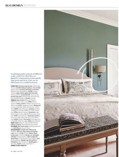 Our stunning #brass Lymington #Wall #Light. Spotted in Homes & Gardens