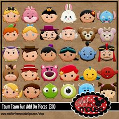 Who can resist the sweet smushy goodness of Disney Tsum Tsums? Michelle's newest kit is bursting with color and fun for all of your collect. Kawaii Disney, Cute Disney, Sofia The First Birthday Party, Circle Crafts, Pink Castle, Tsumtsum, Disney Tsum Tsum, Fancy Cookies, Disney Ears