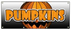 """36""""x96"""" PUMPKINS BANNER SIGN pumpkin patch halloween signs by SignMission. $74.99. Proudly Made in the USA. Banner Size: 36""""x96"""". Perfect for Outdoor Use for 5+ Years. Improve Your Bottom Line with a SignMission Banner. Weatherproof Banner - UV Protected. Increase your bottom line with this signmission banner! This 36""""x96"""" banner is perfect for outdoor use for 5+ years or will look great inside. Our banners are printed on heavy duty 13oz. outdoor vinyl banner material ..."""