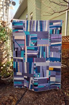 Crooked Stripes Quilt by carryboo, via Flickr