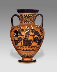 Black-Figure Neck-Amphora (Getty Museum) Ajax and Achilles Framed Prints, Poster Prints, Canvas Prints, Greek Warrior, Trojan War, Black Figure, Getty Museum, Thing 1, Greek Art