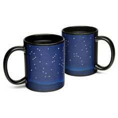 When you pour warm beverage of choice into this Constellation Heat Change Mug, lines appear between the stars to illustrate particular constellations.