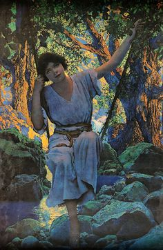 Maxfield Parrish. My most treasured and favorite piece of art..bought it for B for Christmas ;)