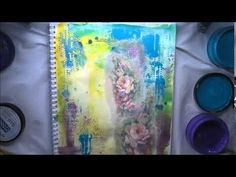 Tissue Paper & how to Journaling in Colour Tutorial #4 'Life...' Dylusio...