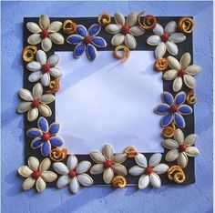 *◕‿◕✿Pumpkin seeds with the picture frame. It is easy and fun*◕‿◕✿