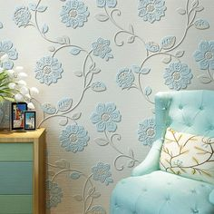 High quality 0.53m*10m Modern Luxury 3d wallpaper roll mural papel de parede flocking for striped wall paper 5 color