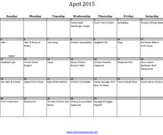 April Monthly Meal Plan with Calendar & Family-Friendly Recipes! – Mom Saves Money