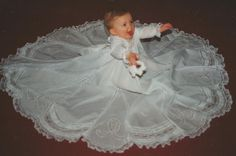 My first French Heirloom Sewing piece. Hannah's Christening dress.