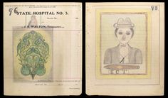ECT. Edward Deeds was a patient with schizophrenia at the Missouri State Hospital for 40 years.  These drawings are from the 40s.